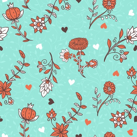 Floral seamless pattern Stock Vector - 13884156