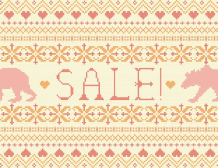 fancywork: Summer sale  Seamless knitted pattern with bears Illustration