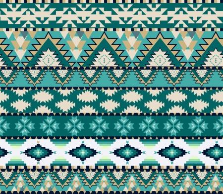 indianische muster: Azteken nahtlose Muster auf kalte Farbe