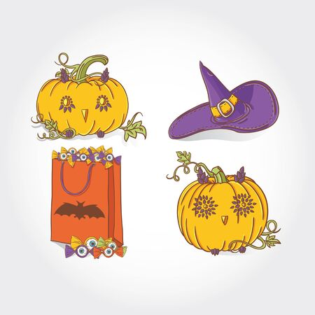 Halloween elements, objects and icons for your design Vector