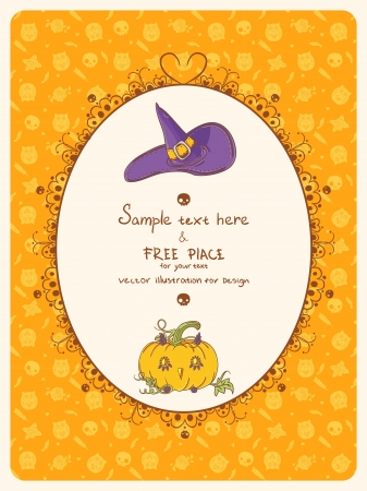 Halloween card with place for text Vector