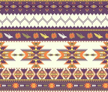 원활한 화려한 아즈텍 패턴