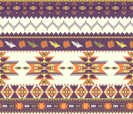 Modelo inconsútil colorido azteca Ilustración de vector