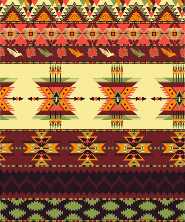native indian: Aztec seamless pattern