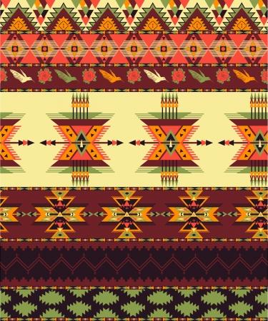tribu: Patrón transparente azteca Vectores