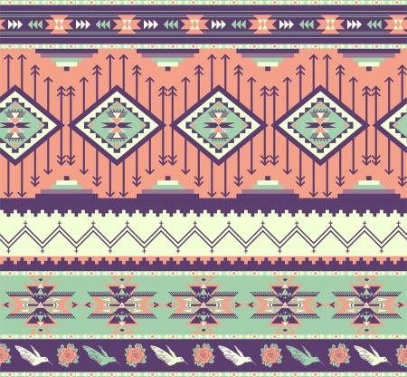 핑크 색상에 아즈텍 원활한 패턴 일러스트