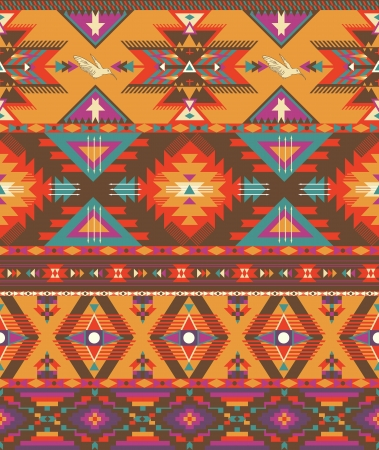 navajo: Seamless colorful aztec pattern Illustration