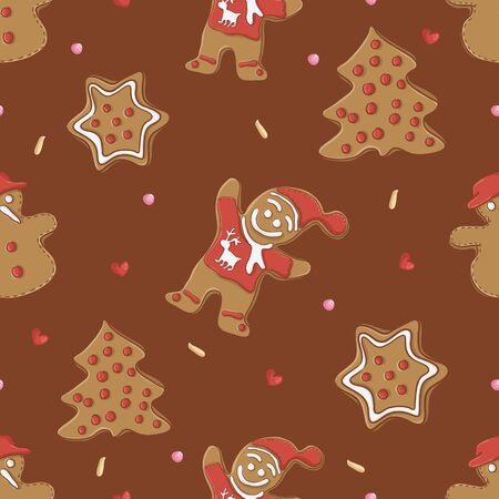 gingerbread man: Gingerbread seamless pattern for christmas