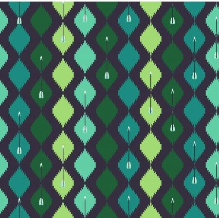 Seamless aztec colorful pattern with arrow Vector
