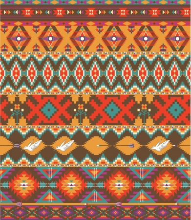 Seamless colorful aztec pattern Illustration