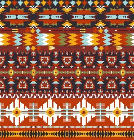 Seamless patrón geométrico abstracto colorido azteca con la flecha Ilustración de vector