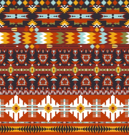 Transparente colorée abstraite motif géométrique aztèque avec la flèche Vecteurs