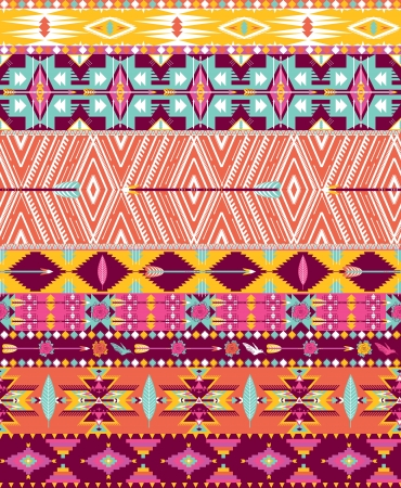 Aztec geometric seamless pattern Stock Vector - 18863026