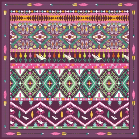 american culture: Seamless colorful aztec geometric pattern