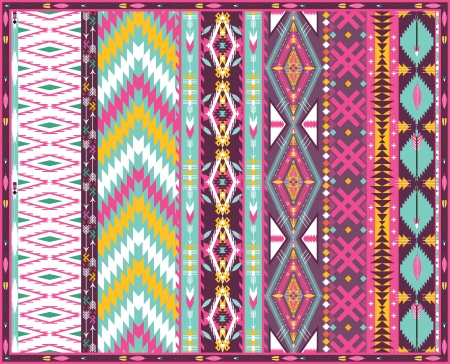 원활한 화려한 아즈텍 기하학적 패턴 일러스트