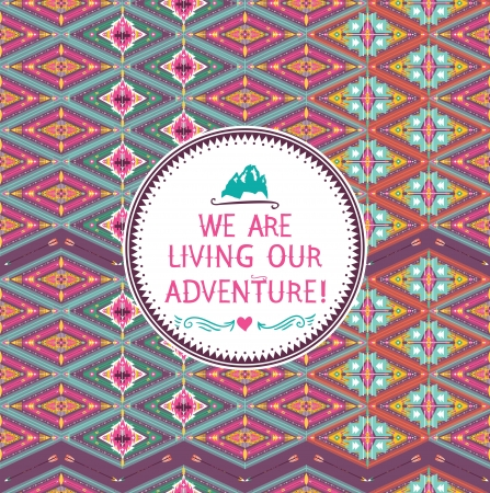Hipster seamless tribal pattern with geometric elements  Иллюстрация
