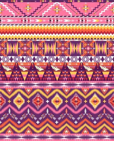 Aztec geometrische naadloze patroon Stock Illustratie