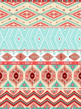 アステカの幾何学的なシームレス パターン  イラスト・ベクター素材