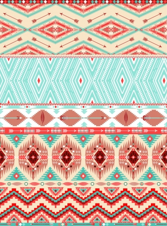 Aztec geometrisches nahtloses Muster Standard-Bild - 24084205