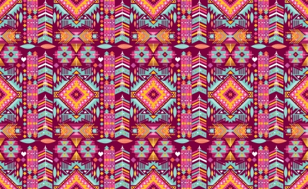 african tribe: Hipster seamless colorful  tribal pattern