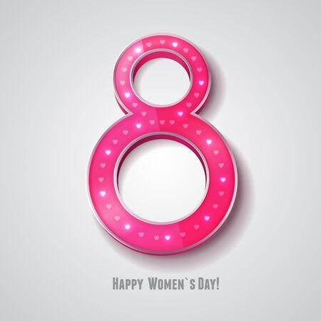 women s day: Vector women s day simbol on white background  Eps10
