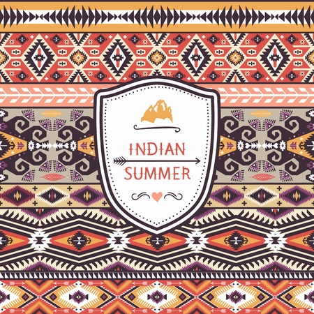 african tribe: Seamless pattern in native american style  Illustration