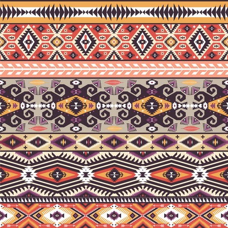 Seamless pattern in native american style  Фото со стока