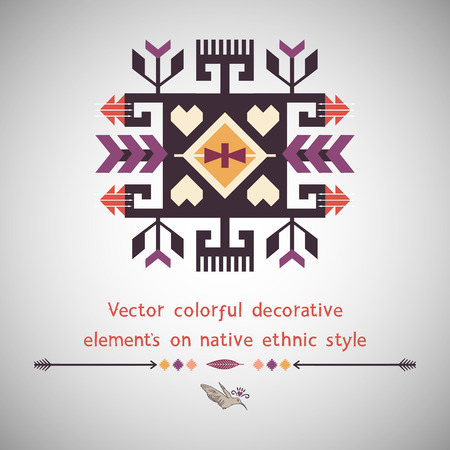 african tribe: Decorative element on native ethnic style