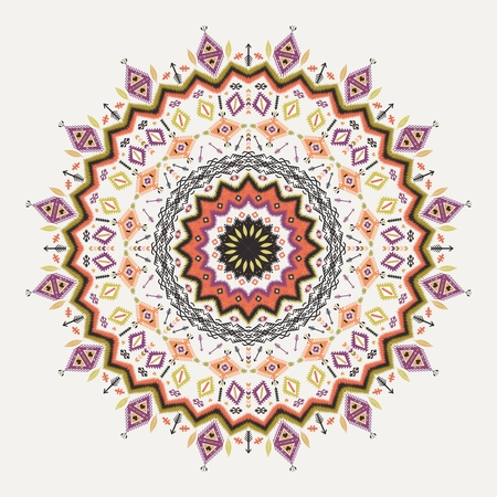 african tribe: Ethnic decorative vector ornament on native ethnic style