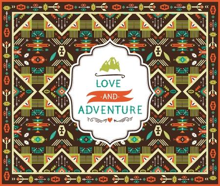 민족 형상 원활한 다채로운 패턴
