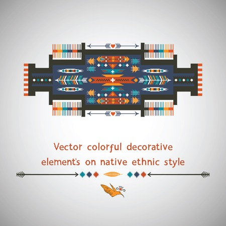 african tribe: Vector colorful decorative element on native ethnic style