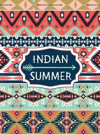 tribal design: Bright decorative geometric pattern in tribal  style