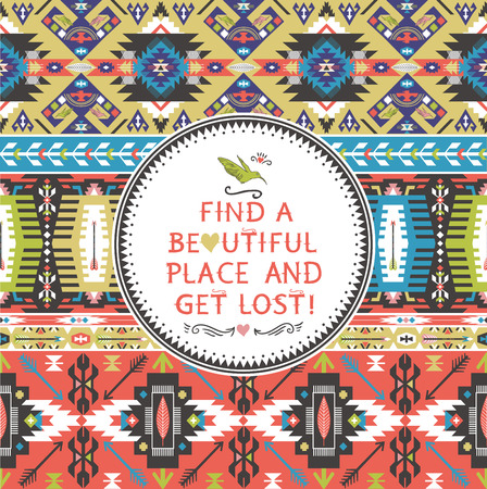 아프리카 스타일 원활한 다채로운 패턴 일러스트