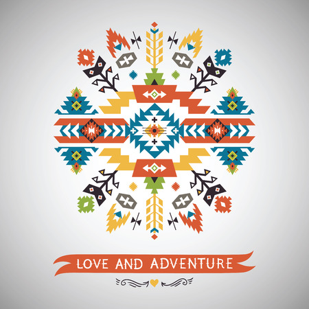 native indian: Vector  decorative element on native ethnic style Illustration