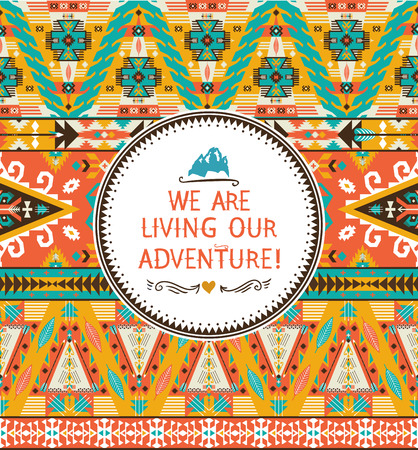 african americans: Navajo colorful seamless tribal colorful pattern