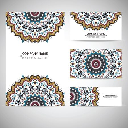 business card template: Business colorful card template. Vector illustration in native style Illustration