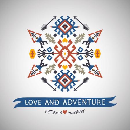Vector kleurrijk decoratief element op inheemse etnische stijl Stockfoto - 92116150