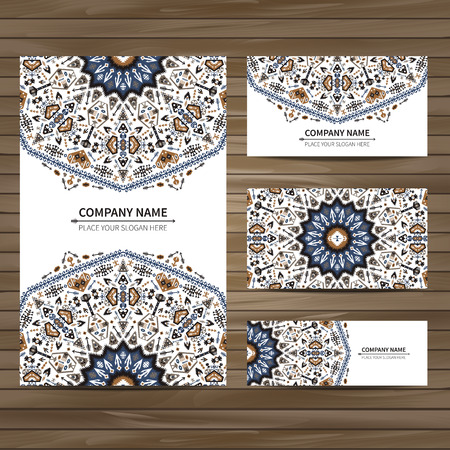native: Business colorful card template. Vector illustration in native style Illustration
