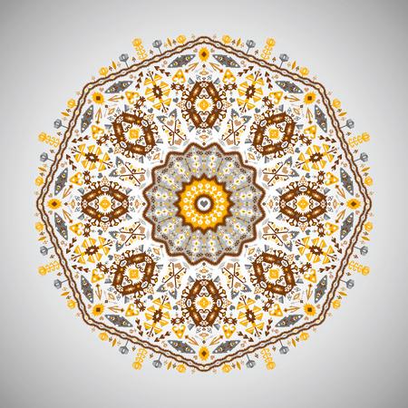 Ornamento rotondo colorato modello geometrico in stile azteco Archivio Fotografico - 87891628
