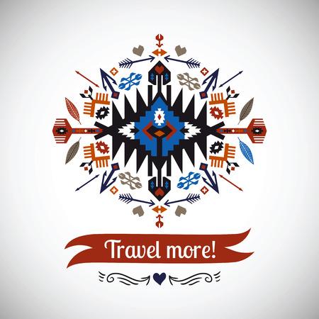 kleurrijke decoratief element op inheemse etnische stijl Vector Illustratie