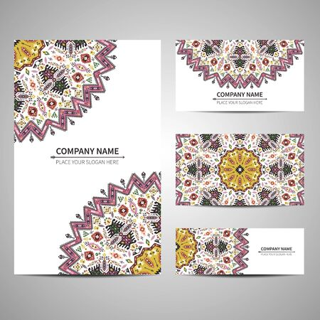 business card template: Business card template. Illustration