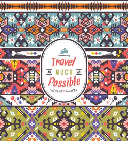 Fancy geometric  pattern in tribal style