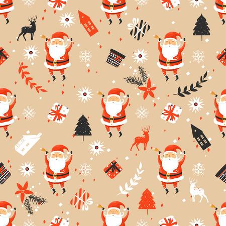 Wesołych Świąt Bożego Narodzenia wzór z Mikołajem
