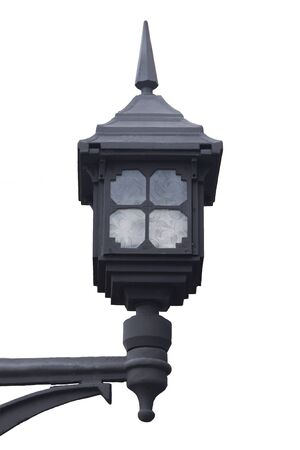 modern outdoor black lamp on street photo