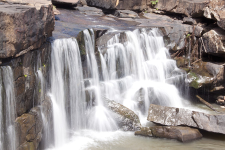 water fall and stone photo