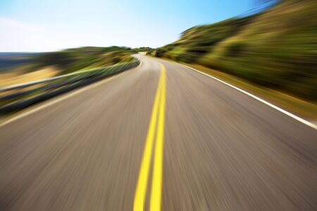 Hight speed driving on the empty road Stock Photo - 6916851