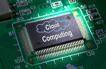 cloud computing chip Stock Photo - 6996232