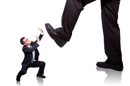 businessman beg do not hurt him photo