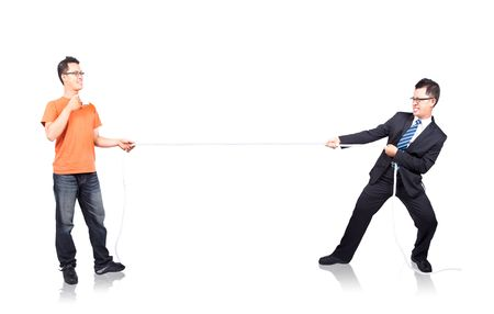 tug of war: the fight between work and leisure,relaxed and hard