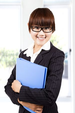 young smiling business woman Stock Photo - 7795313